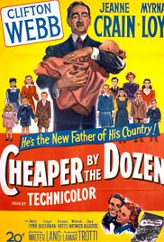 In Frank's shadow: - Poster for the 1950 movie based on the Gilbreths' life (no relation to that Steve Martin flick from the 1990s...). Note how Frank dominates, with Lillian the size of one of their eleven children