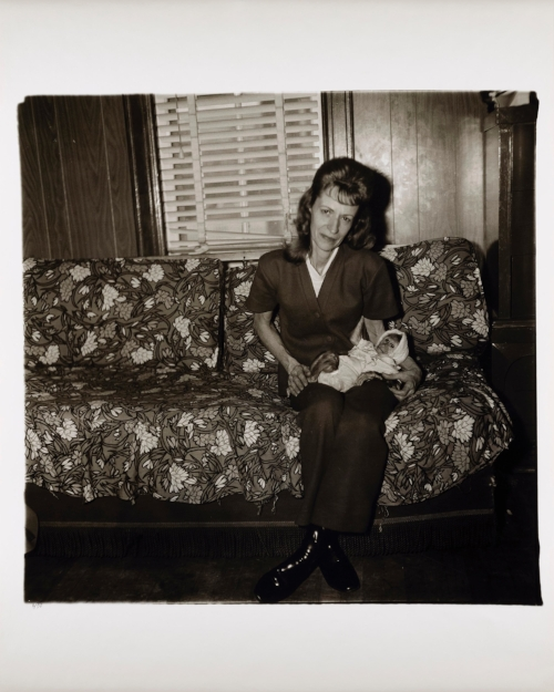 Diane Arbus,  A woman with her baby monkey, N.J.  (1971)
