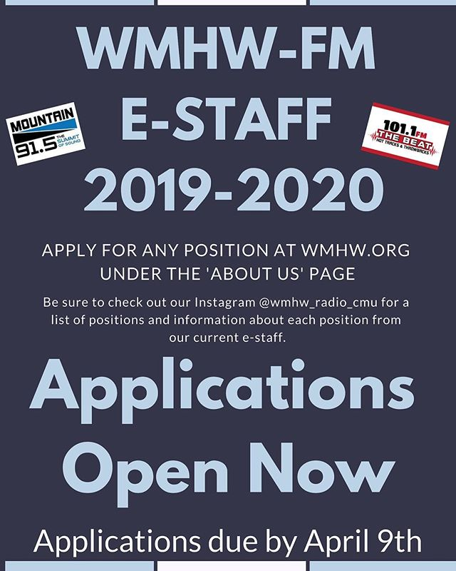 Applications for Executive Staff are now open! Here's our 91.5 program director, Karin Merillat, business grants director, Hunter Jonas, and social media/ web director, Ashley Straub, with information about their positions.