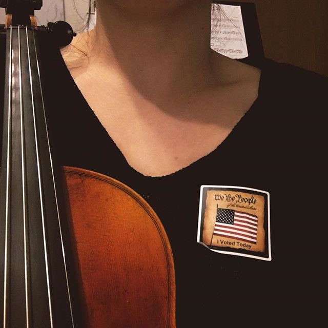 Voted... for my own kids, for my students, for everyone.  #violinists #suzukiviolin #mkeviolinteacher #suzukiworks #beautifulhearts #musiceducation #voteforthefuture