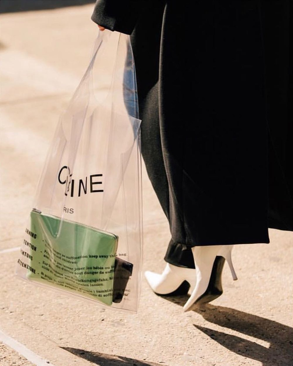 CELINE PLASTIC BAG WITH ZIP POUCH AND WALLET   PH: DANROBERTSSTUDIO