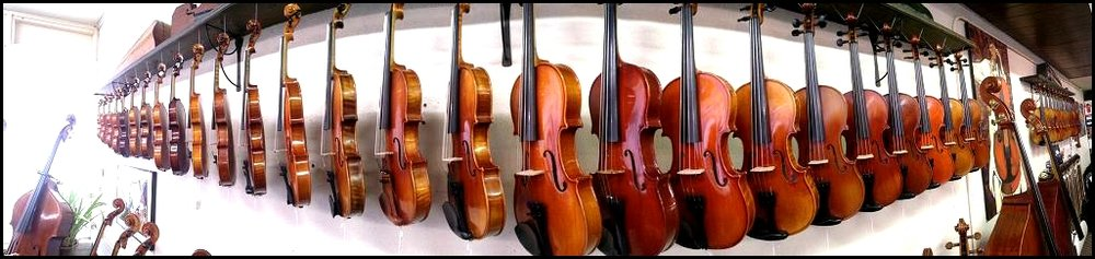 We carry all major brands of instruments & Bows, strings, cases, rosins, rests, and accessories for the student to soloist. Our friendly staff of professional string players will help you find the right instrument to fit your needs and budget.