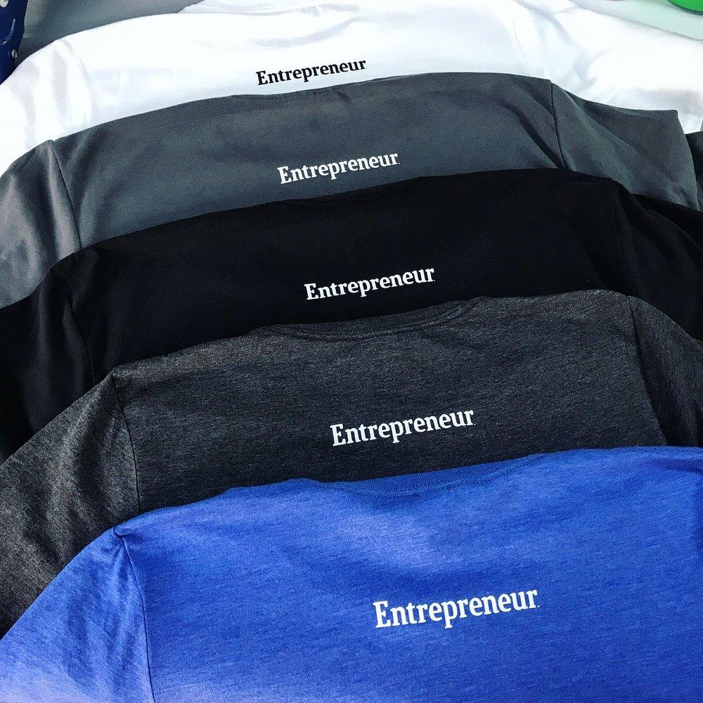 Entrepreneur Magaizne logo small across back