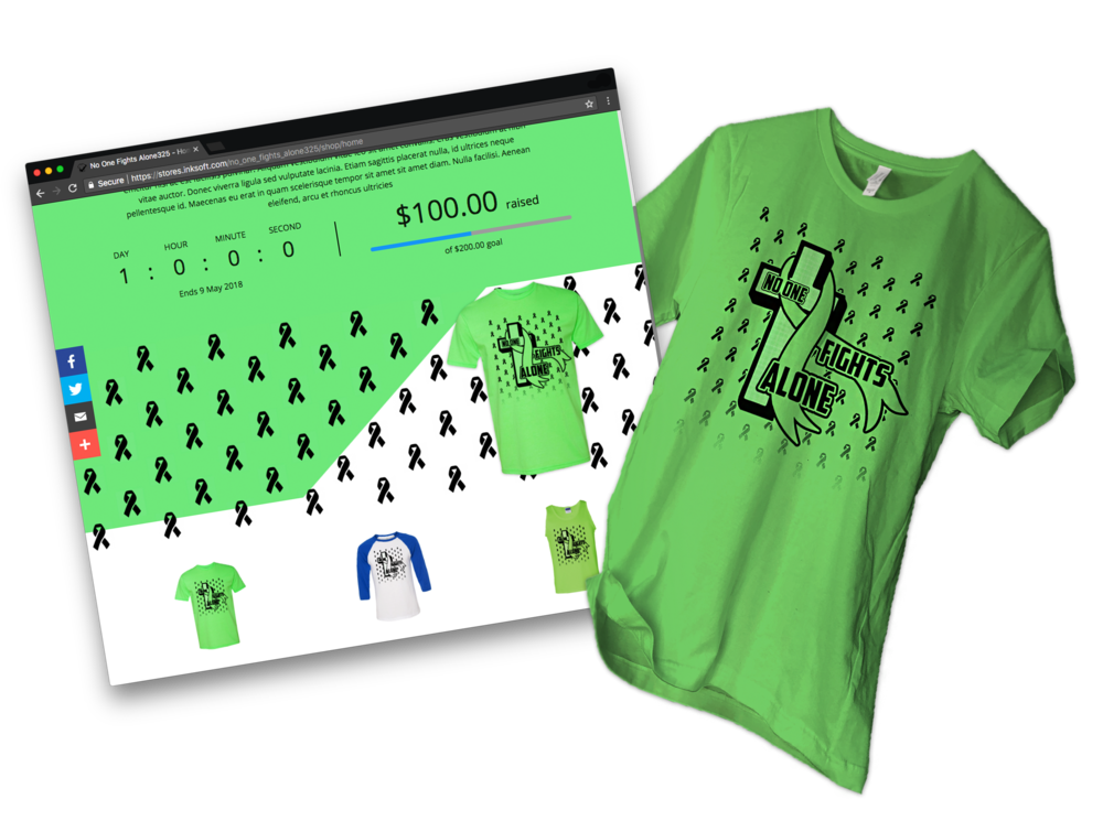 Raise money for your cause or organization selling t-shirts online! -