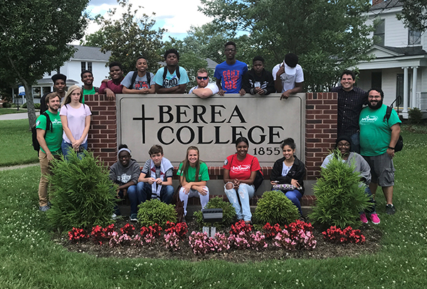 High school students visit Berea College