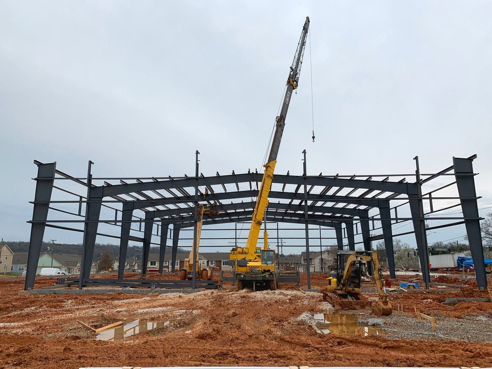 Steel is up at the Lonsdale Area Ministry Complex.