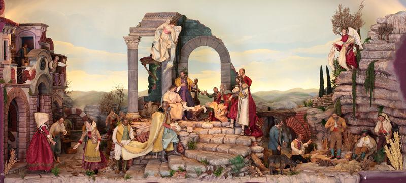 Representación de la escena de la Natividad.