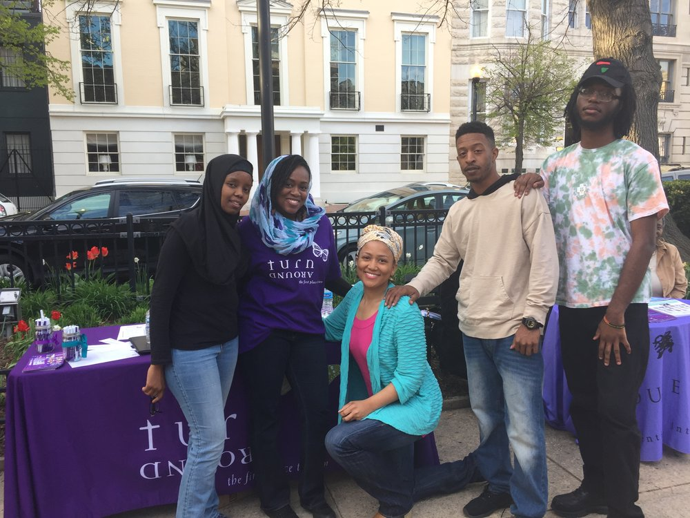 Stella, Sis. Mothyna, Ola, Parrish and Louis at Mount Vernon Place Square Take Back The Night
