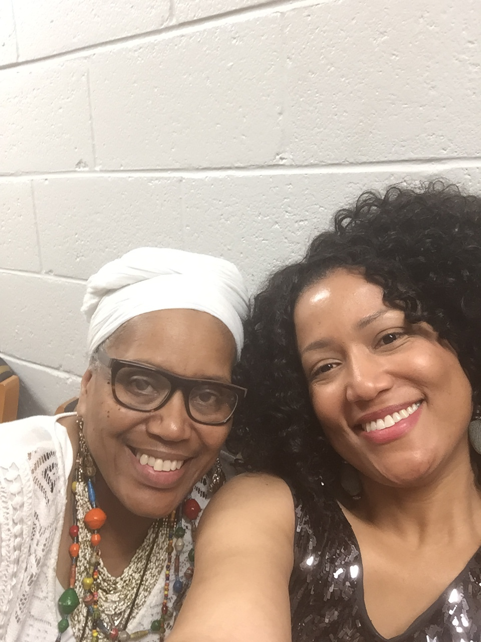 Mama Rashida and Ola at Coppin University