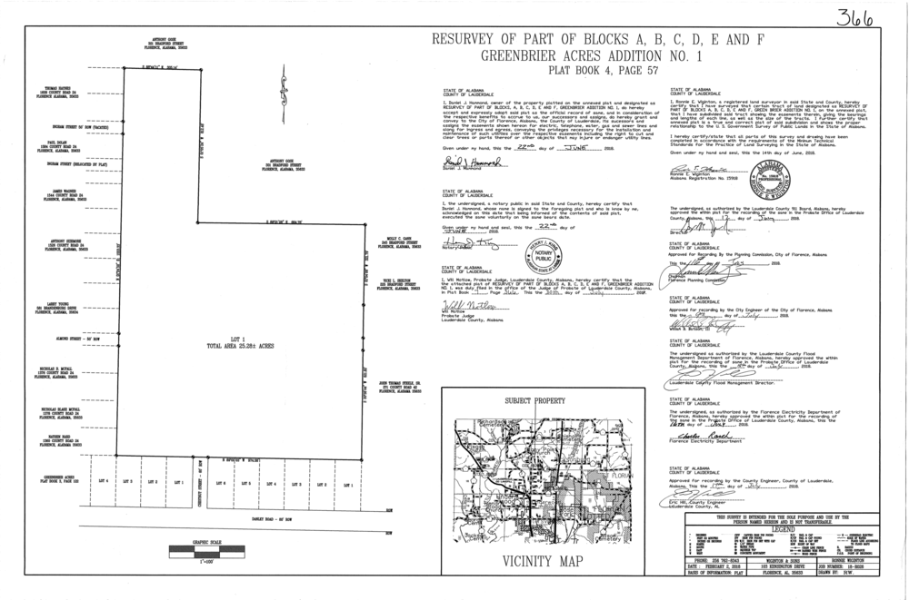 Plat-Greenbrier Acres Addition No 1 Resurvey of Blocks ABCDE&F-1.png