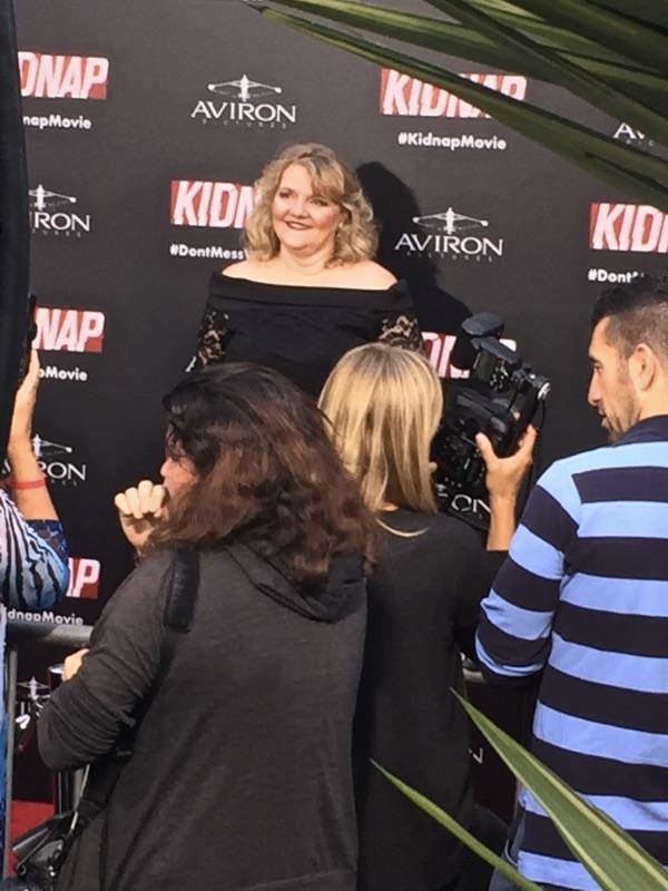 Chris McGinn  on the red carpet at the 2017 premiere of  Kidnap .