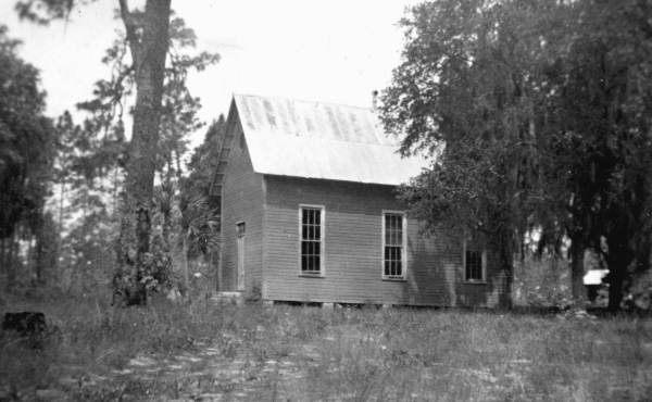Kerr City School - This was the original school house, built c. 1885. This building stood many years after its students were gone, but was damaged by vandalism and arson attempts so frequently that the towns current caretaker was forced to take it down. Photo Courtesy and Property of the Florida Memory Project.