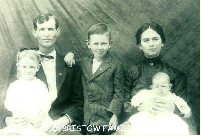 Photo of Roxie and Samuel with their first 3 children, Felton, Ola Mae and John taken in 1916- the same year they moved to Florida (Photo courtesy of the Bristow-Dugger family)]