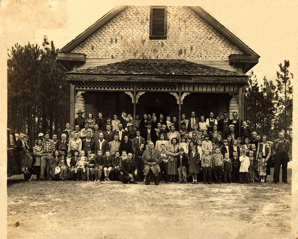 Photo taken in the 1940s or 1950s- likely during a revival or church celebration.  Photo courtesy of Leigh Nelson- shared via  Vanishing South Georgia