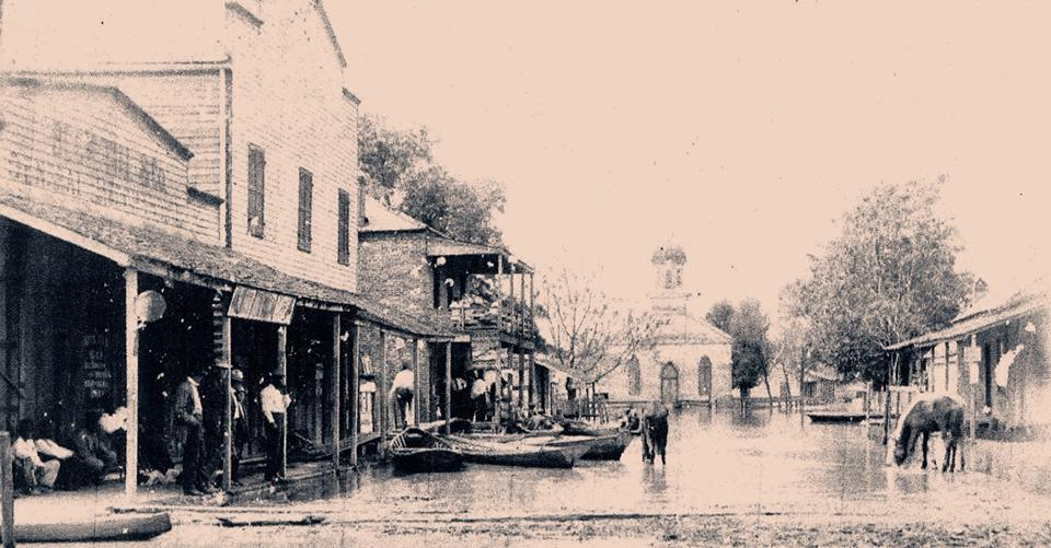 Rodney during the Flood of 1927