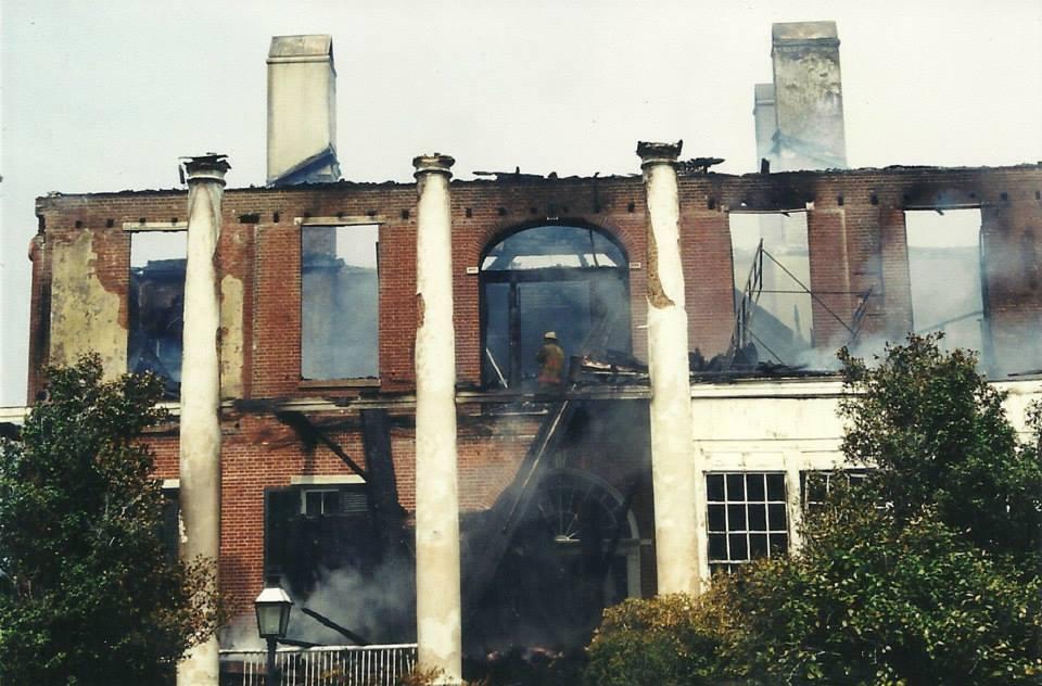 2002 Fire Damage closeup