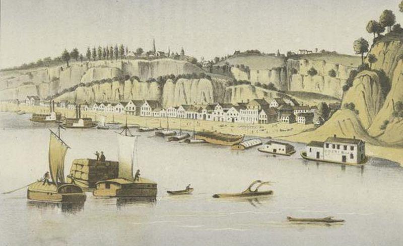 Early Natchez River Scene