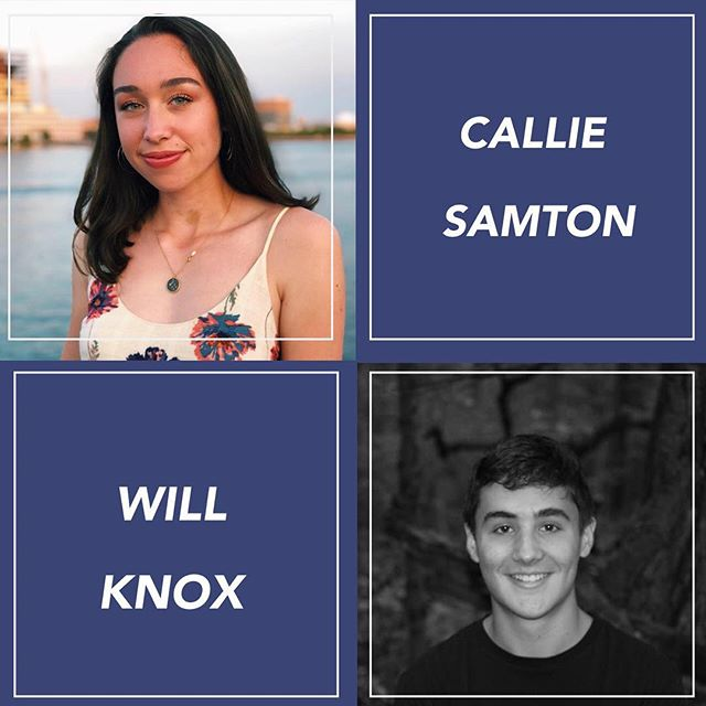 Congrats to our Mentors of the Week! @calliesamton @willknox_ . Check out our Facebook page to learn more about them! 💫