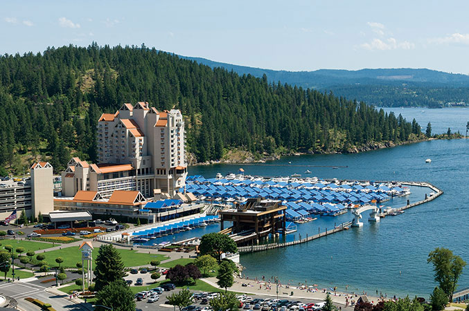 A+MD's lakeside setting at the Coeur d'Alene Resort