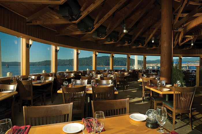 Food options at the Coeur d'Alene Resort