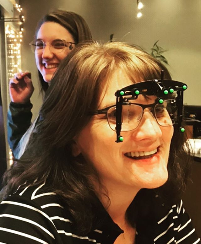 Our wonderful patient, Terri, getting fitted for progressives using the Spectangle for all the specific measurements. . . . #eyes #pdx #optometrist #progressives #spectacles #eyewear #glasses #favoritepatients #icberlin #portland #portlandoregon #shopsmall #shopsmallbusiness #shopsmallsaturday #holidayshopping #wishlist #newglasses #newspecs #ohsaycanyousee #theeyeshaveit #pnw #nebroadway #nepdx