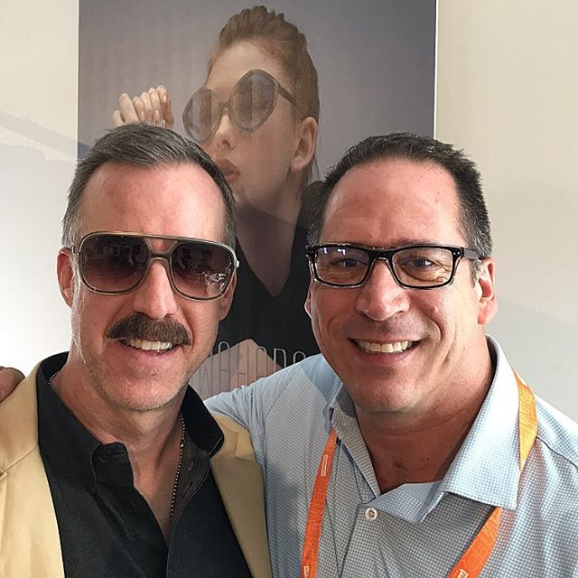 Dr. Barreto with longtime Bevel and Blake Kuwahara rep, Dan (with the cool shades and sporting a mustache for the loft party that night). Always great to see you, Dan!  #bevel #blakekuwahara #sunglasses #eyewear #eyewearfashion #visionexpo #eyecare #nyc #eyesonnyc #portlandeyecare