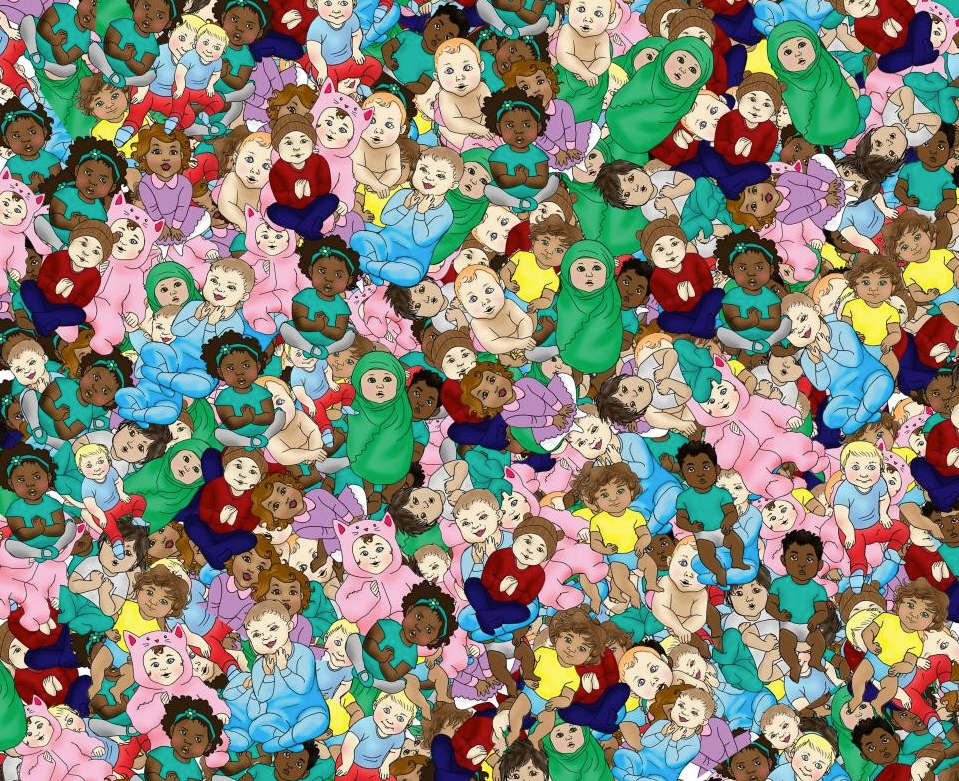 This visual challenge is tough. See if you can find the sleeping baby! Image Courtesy: Komando.com