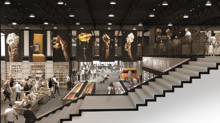 A look at the new, 2-story Tillamook Cheese Visitor Center…a big, modern upgrade! Image Courtesy: Olsen-Kundig