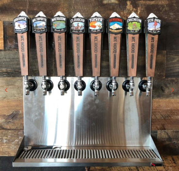 """Featuring craft beers from Mt. Hood Brewing, along with a """"this location only"""" special brew, what's better than good pizza and great beer? Image Courtesy: mthoodbrewing.com"""
