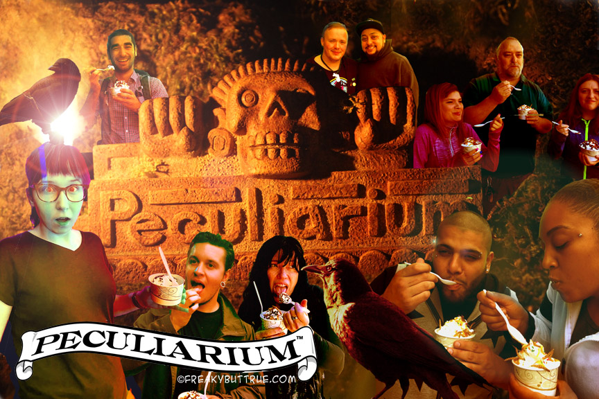 This menagerie captures some of the strangeness of the Freak Buttrue Pecularium. However, only a physical visit will do it justice. Image Courtesy: pecularium.com