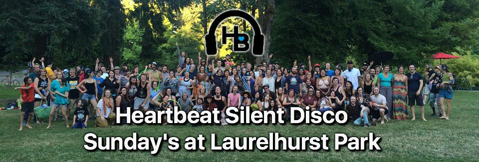 Heartbeat Silent Disco of Portland puts on these great events all over the city, but there have been many at Laurelhurst Park on Sundays (weather permitting). Get your disco on! Image Courtesy: Heartbeat Silent Disco