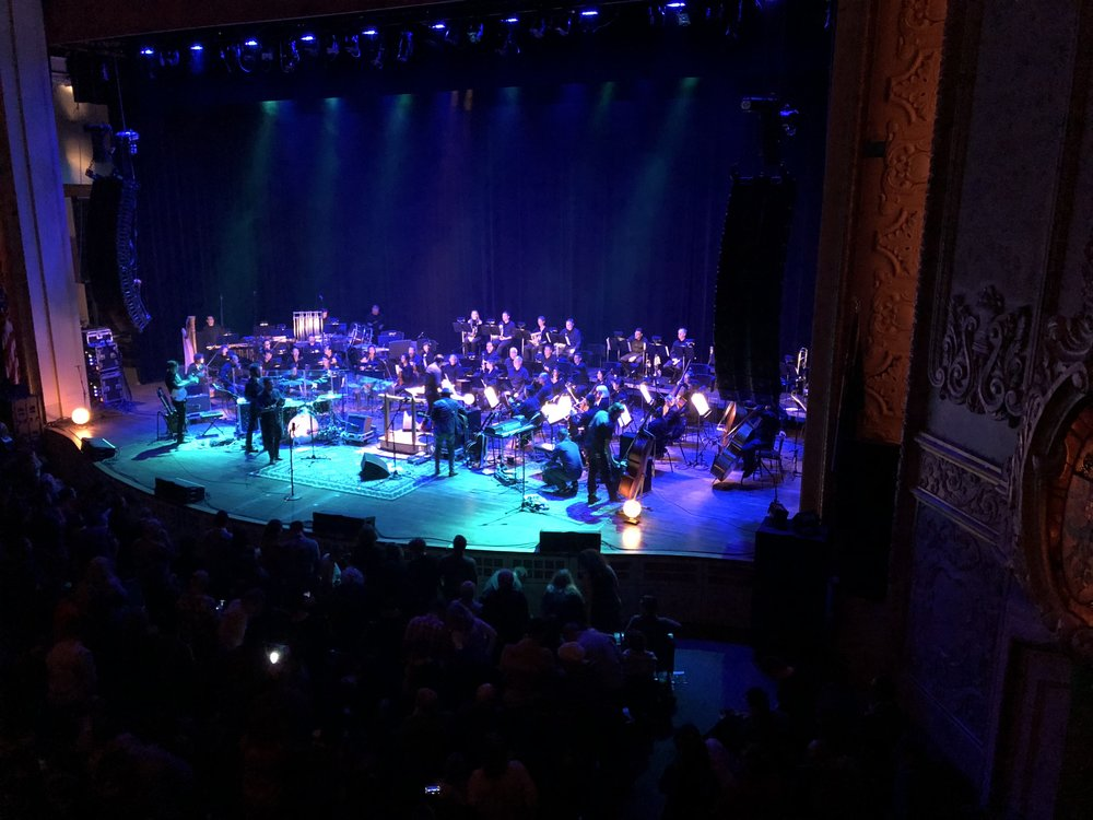 Gregory Alan Isakov and band playing with the Portland Symphony. Absolutely wonderful. Image Courtesy: Dan Meyers