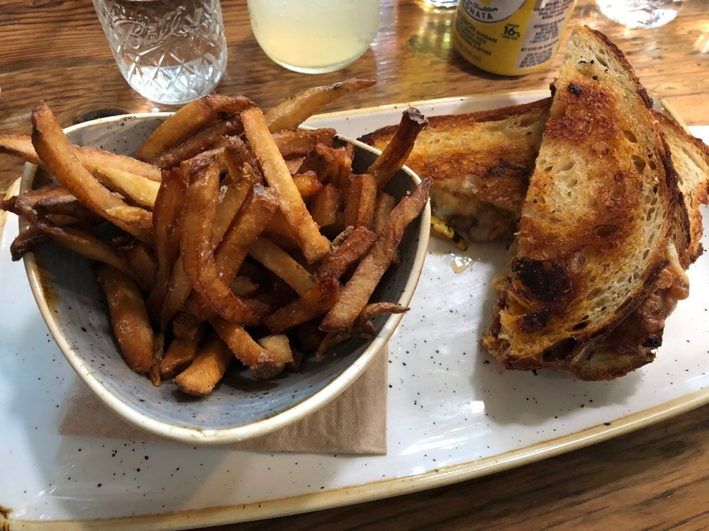From the amazingly-good fries to the super unique grilled cheese that boasted Red Pepper jam and squash as extras, well, let's just say this was a great, mid-day meal. Thanks Pfriem! Image Courtesy: Dan Meyers