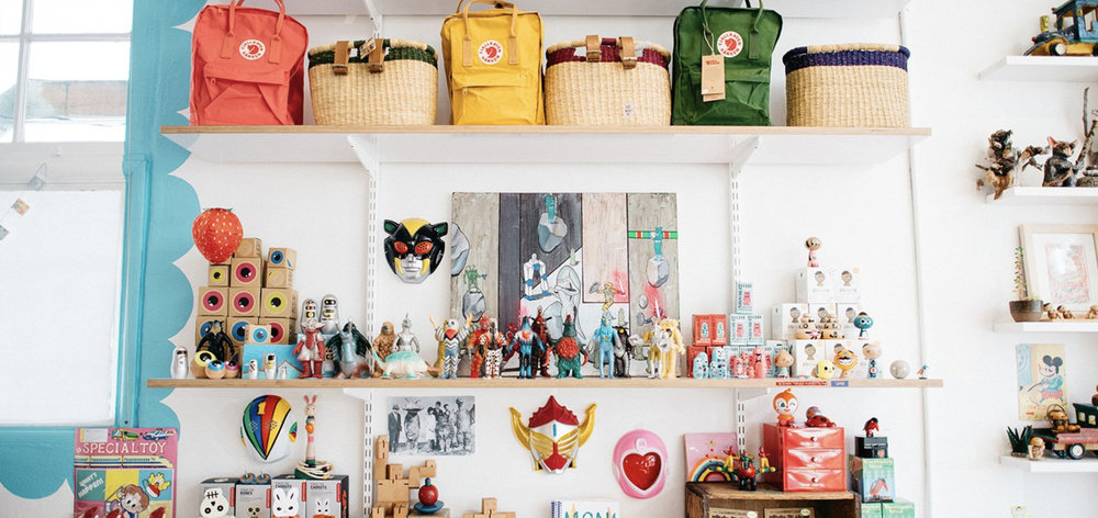 Another good shot of what's on the shelf at Hello Good Morning…but of course the inventory is constantly changing, meaning it's a good idea to stop by often just to see what's landed! Image Courtesy: Hellogoodmorningkids.com