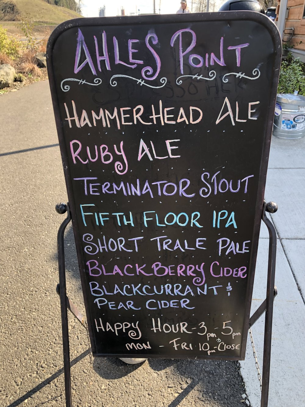 The drink list at Ahle's Point Cabin…I'll be back there soon. Image Courtesy: Dan Meyers