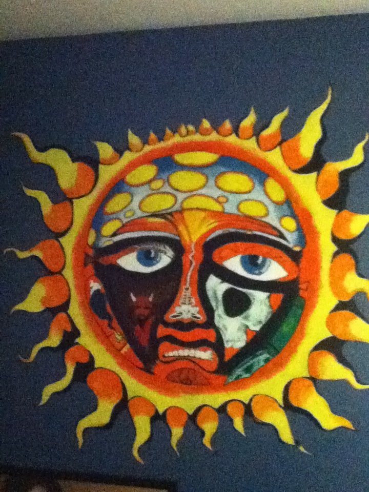 This is another mural I did for my son on his wall. It's from the band Sublime