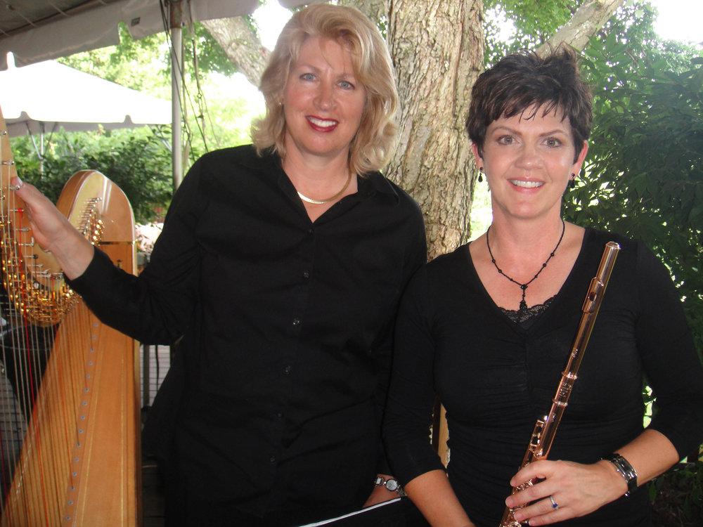 Jeannine Goeckeritz - Flute -Tamara Oswald - Harp - Wolftrap Live Performance.jpg