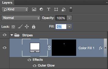 Color Fill w/Layer Effect & 0% Fill