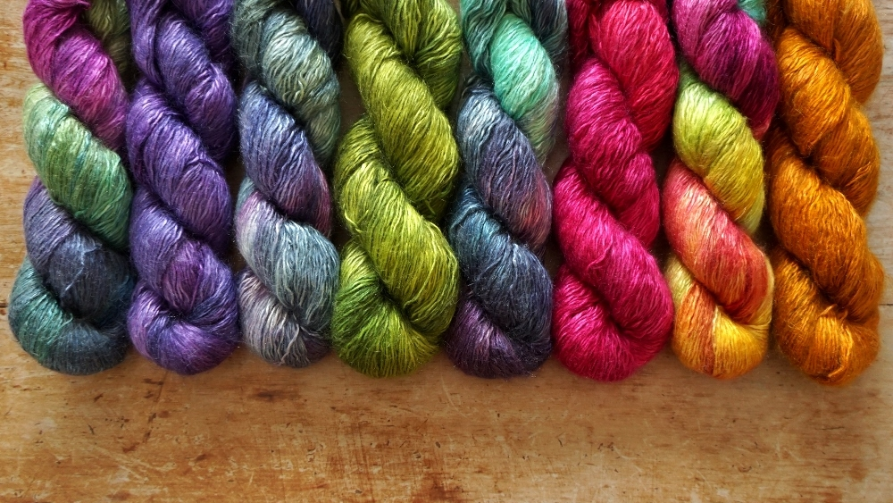 Dragonfly - Heavy 4ply Weight Silk, Mohair and Polyamide