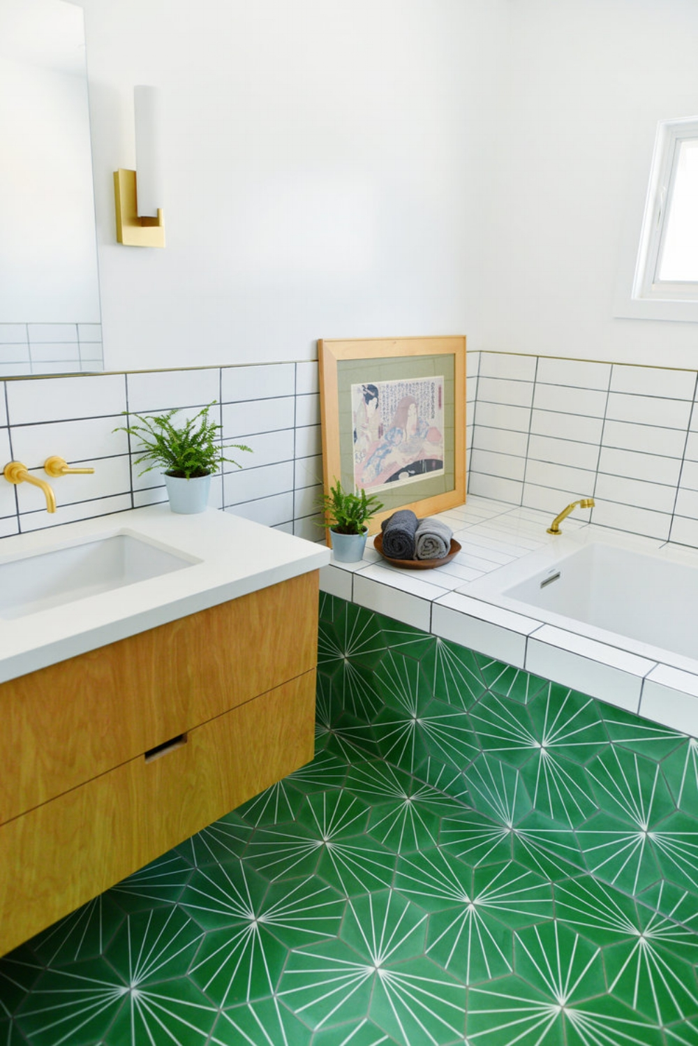 10 More Bathrooms with Incredible Tile — Cobalt + Gold