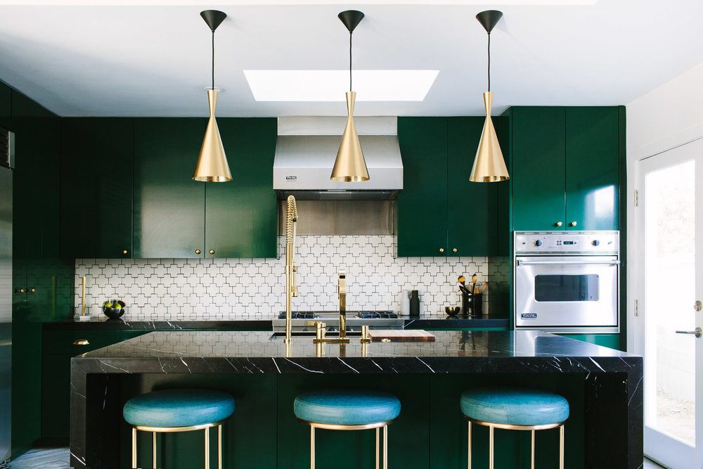 10 Awesome Colorful Kitchens Cobalt Gold