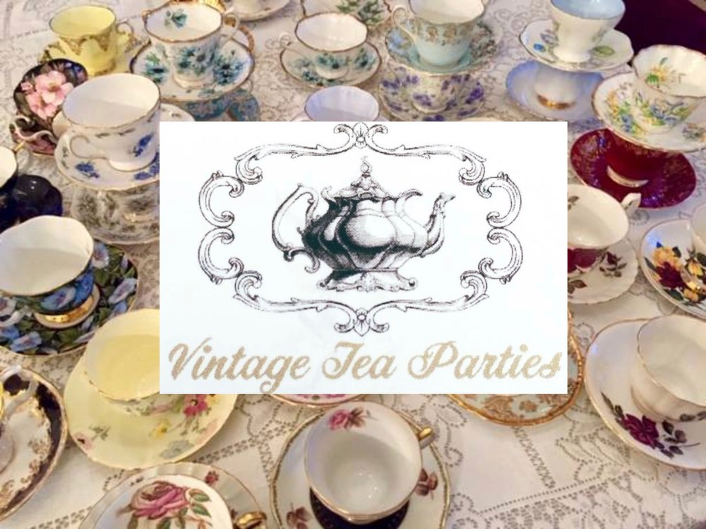 Vintage Tea Parties , a local business, had a 'tea party' display set up in the Theatre lobby. Here are some of the resulting photos: