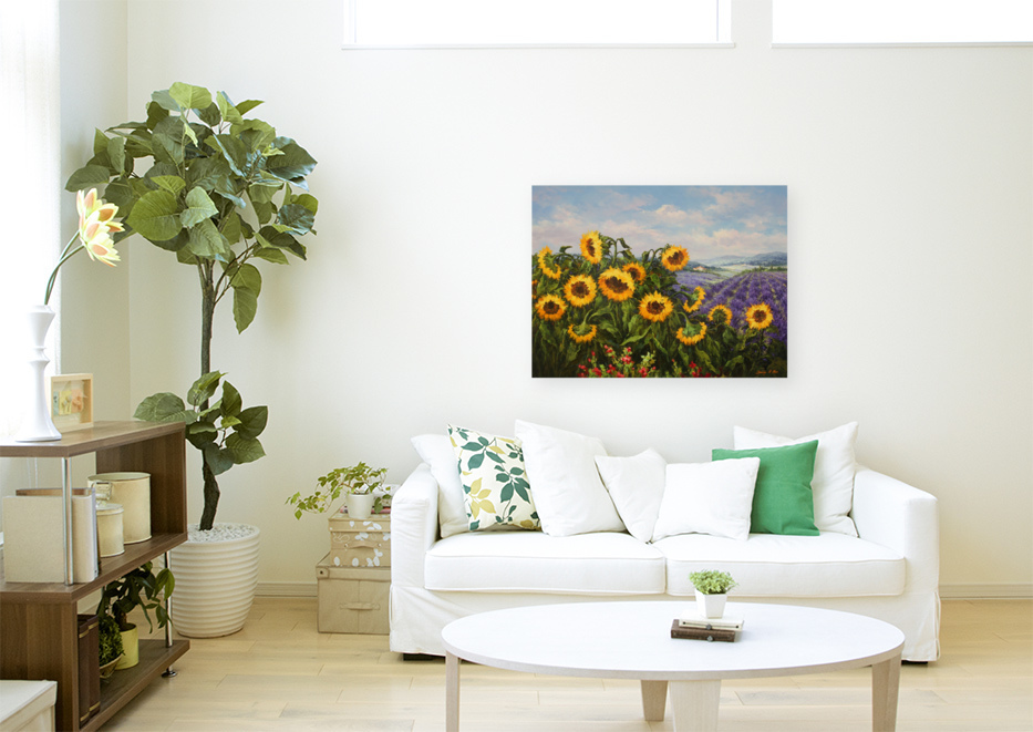 Sunflower and Lavender-wall.jpg