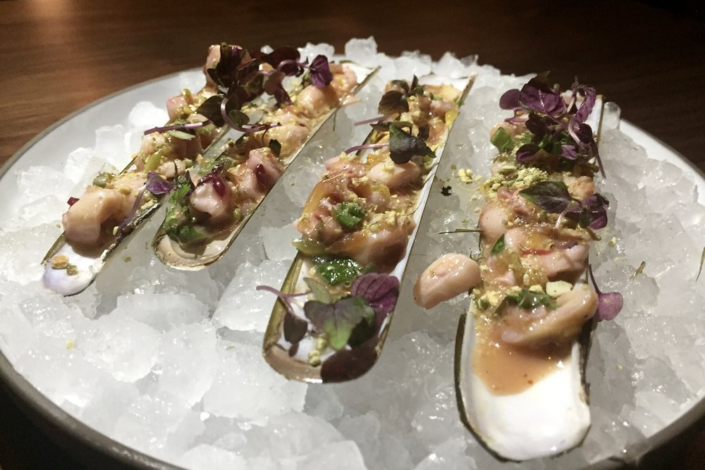 From Little Donkey - Razor clam ceviche