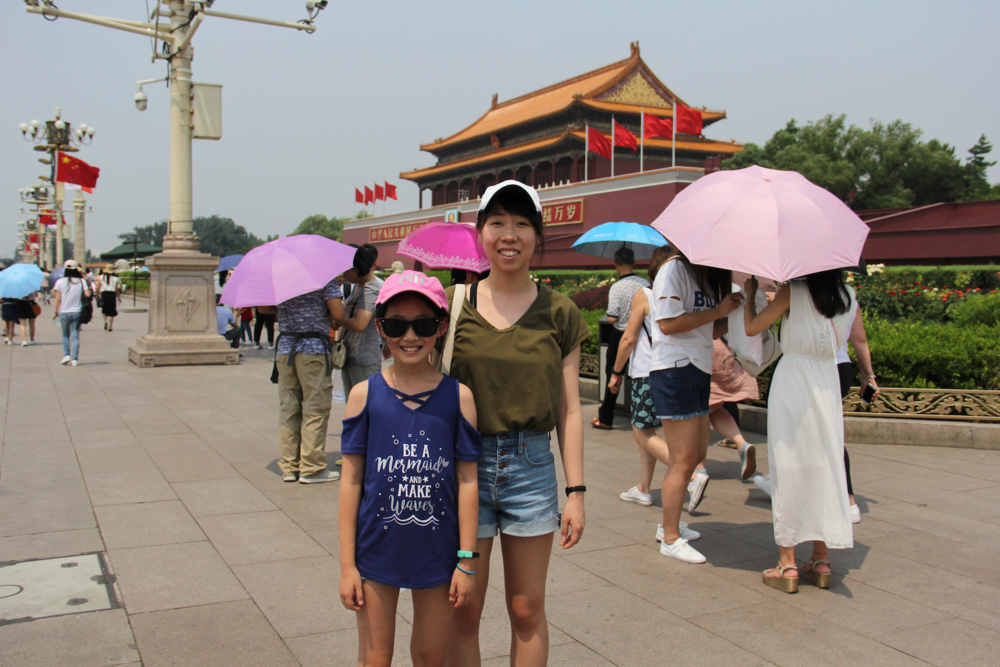 Good ol' stereotypical tourist picture in front of the Forbidden City