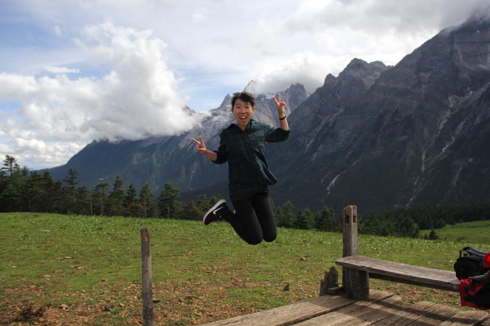 Celebratory jumps