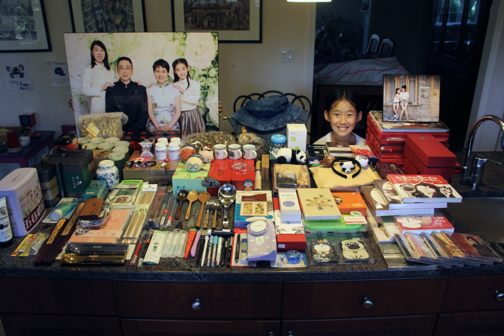 The crazy amount of things we brought back from our trip! Many are gifts for other people, but many are not….