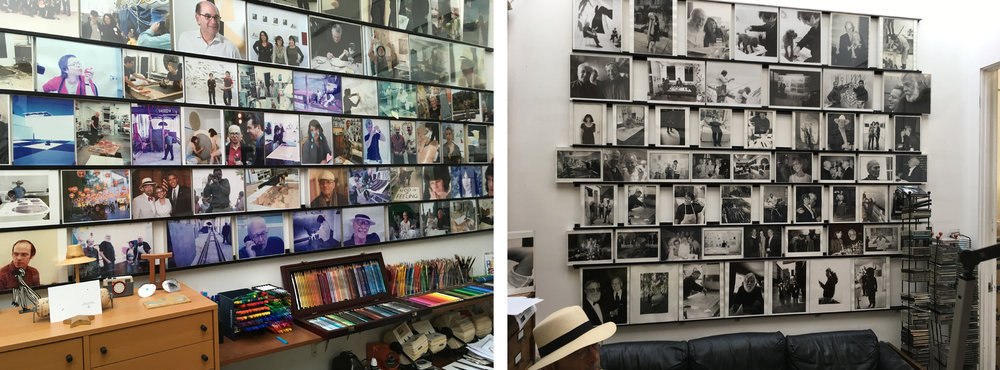 Photographs line the walls of Sidney's office at Gemini G.E.L.