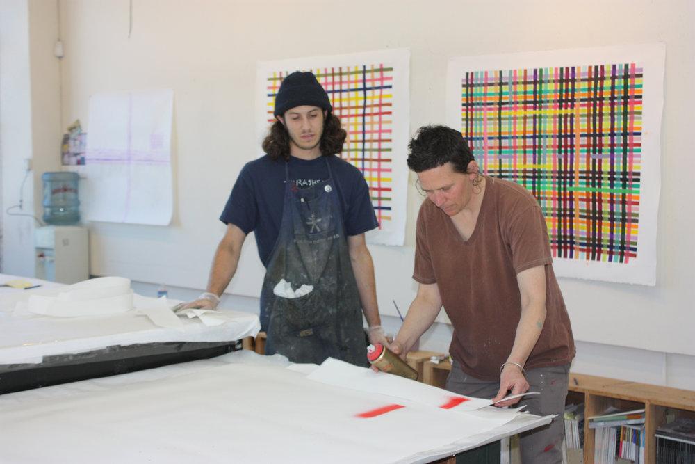 Alexander Groshong and Alicia McCarthy at Paulson Bott Press, 2016
