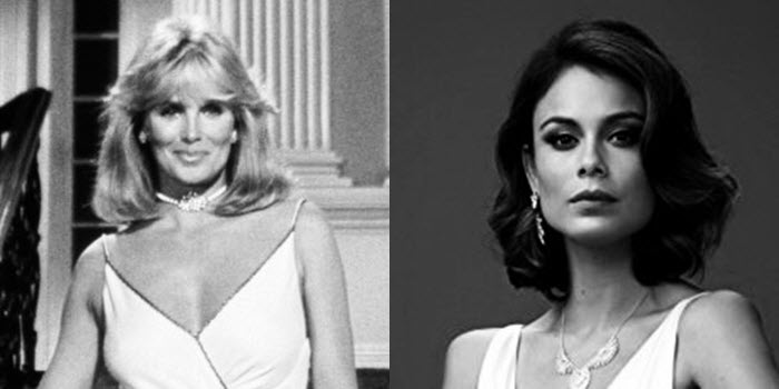 Krystal/Cristal Carrington - In the face off between Linda Evans and Nathalie Kelley... old Krystle -- Linda Evans -- wins!She was always had Blake wrapped around her pinky.